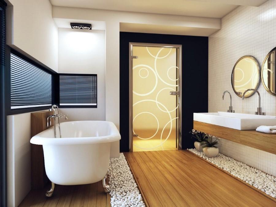 Vonios kambario durys